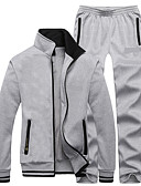 cheap Women's Dresses-Men's Tracksuit Long Sleeves Thermal / Warm Fleece Lining Soft Comfortable Pants / Trousers Jacket Clothing Suits Top for Exercise &