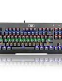זול חולצות לגברים-REDRAGON K561RGB חוטי כבל תאורה אחורית RGB מתגי כחול 87 מקלדת ארגונומית מקלדת משחקים נייד נוח באקליט