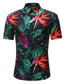 お買い得  メンズシャツ-男性用 プリント シャツ ストリートファッション ボヘミアン カラーブロック