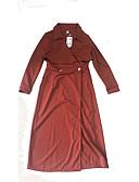preiswerte Damen Kleider-Damen Hülle Kleid Solide Maxi V-Ausschnitt