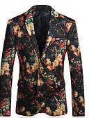 ieftine Maieu & Tricouri Bărbați-Bărbați Zvelt Blazer Floral, Imprimeu