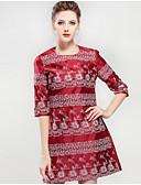 זול שמלות נשים-רקום, פרחוני - שמלה נדן בגדי ריקוד נשים