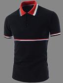 זול טישרטים לגופיות לגברים-אחיד צווארון חולצה טישרט - בגדי ריקוד גברים / שרוולים קצרים / ארוך