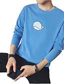 povoljno Muške majice i potkošulje-Majica s rukavima Muškarci-Aktivan Dnevno Pamuk Jednobojni Okrugli izrez Slim