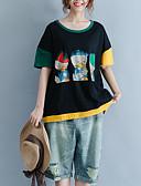 tanie T-shirt-T-shirt Damskie Podstawowy, Nadruk Kolorowy blok