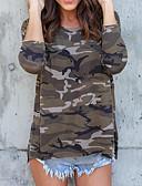 cheap Women's T-shirts-Women's Street chic T-shirt - Camouflage / Spring / Summer