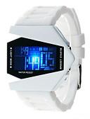 cheap Quartz Watches-Men's / Women's Fashion Watch Japanese Casual Watch Silicone Band Sparkle Black / White / Blue