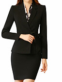cheap Women's Blazers & Jackets-Women's Cotton Suits - Solid Colored Shirt Collar