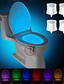 abordables Velos de Boda-BRELONG® 4pcs Luz de baño Pilas AAA alimentadas Smart Sensor del cuerpo humano Color variable