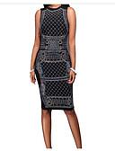 cheap Women's Dresses-Women's Bodycon Dress - Patchwork V Neck