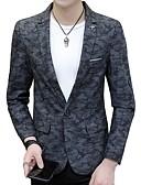 ieftine Maieu & Tricouri Bărbați-Bărbați Rever Clasic Blazer Activ-camuflaj,Imprimeu Bumbac