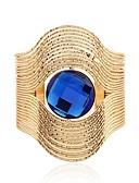 halpa Iltapuvut-Naisten Synteettinen Sapphire Rannekkeet - Ruostumaton teräs Vintage, Muoti, Ylisuuret Rannekorut Kulta / Hopea Käyttötarkoitus Seremonia Iltajuhlat