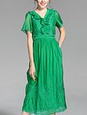 זול חולצות לנשים-קפלים, אחיד - שמלה גזרת A בגדי ריקוד נשים