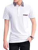 זול חולצות פולו לגברים-אחיד צווארון חולצה רזה Polo - בגדי ריקוד גברים כותנה