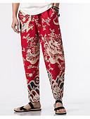 ieftine Pantaloni Bărbați si Pantaloni Scurți-Bărbați Bumbac Pantaloni Chinos Pantaloni Jacquard