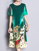tanie Sukienki-Damskie Wyrafinowany styl Puszysta Spodnie - Kwiaty Nadruk Zielony / Święto