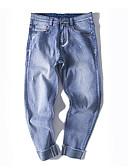 זול מכנסיים ושורטים לגברים-בגדי ריקוד גברים סגנון רחוב כותנה משוחרר מכנסיים אחיד