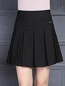 זול חצאיות לנשים-קפלים אחיד - חצאיות כותנה גזרת A בגדי ריקוד נשים