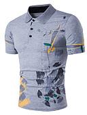 cheap Men's Pants & Shorts-Men's Active Polo - Print Shirt Collar / Short Sleeve