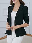 cheap Women's Blazers & Jackets-Women's Work Basic Street chic Blazer - Solid Colored, Ruffle