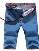 tanie Męskie koszule-Męskie Rozmiar plus Bawełna Szczupła Typu Chino / Krótkie spodnie Spodnie Jendolity kolor / Sport