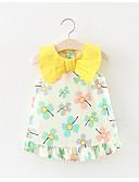 baratos Vestidos para Bebês-bebê Floral Sem Manga Algodão / Poliéster Vestido