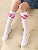 hesapli Kız Çocuk Kıyafet Setleri-Çocuklar Genç Kız Suni Kürk / Polyester Çoraplar ve Uzun Çorap Beyaz / Siyah / YAKUT Tek Boyut