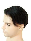 hesapli Erkek Gömlekleri-Erkek Kökten Saç Takma Saçlar Komple Dantel % 100 Elle Bağlanmış