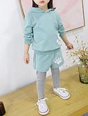 זול שמלות נשים-סט של בגדים כותנה ספנדקס אביב סתיו שרוול ארוך יומי ספורט אחיד אנימציה בנות חמוד יום יומי פעיל ורוד מסמיק כחול בהיר