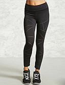 tanie Getry-Damskie Sportowy Legging - Solidne kolory, Z wycięciem Wysoka talia / Sportowy look