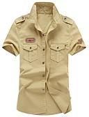 رخيصةأون قمصان رجالي-للرجال قميص أساسي العسكرية سادة, تطريز