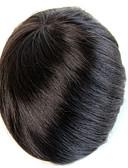tanie Topy damskie-Męskie Włosy naturalne remy Tupeciki W 100% ręcznie wiązane / Pełna poronka