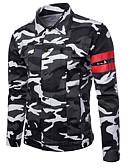 baratos Jaquetas & Casacos para Homens-Homens Jaqueta jeans Básico Militar-Tropical