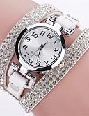preiswerte Quartz-Damen Quartz Simulierter Diamant Uhr Armband-Uhr Modeuhr Chinesisch Imitation Diamant Armbanduhren für den Alltag PU Band Freizeit Modisch