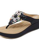 povoljno Odijela-Žene Sandale Wedge Heel Okrugli Toe Štras / Kristal Sintetika, mikrofibra, PU Inovativne cipele Proljeće / Ljeto Crvena / Plava / Badem / Color block