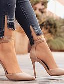povoljno Večernje haljine-Žene Cipele Nubuk koža Proljeće / Jesen Udobne cipele / Inovativne cipele Cipele na petu Stiletto potpetica Krakova Toe Kopča Zelen /