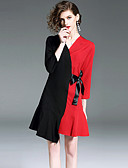 povoljno Ženske haljine-Žene Ulični šik A kroj Haljina - Mašna, Color block Mini
