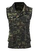 זול תחתוני גברים אקזוטיים-להסוות Military ספורט מידות גדולות וסט - בגדי ריקוד גברים, דפוס כותנה / ללא שרוולים