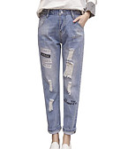 cheap Women's Swimwear & Bikinis-Women's Basic Jeans Pants - Solid Colored Hole