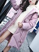 tanie Kurtki i płaszcze dla dziewczynek-Dzieci Dla dziewczynek Solidne kolory Długi rękaw Odzież puchowa / pikowana Czerwony 150