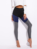 abordables Leggings para Mujer-Mujer Deportivo Legging - Retazos Media cintura