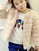povoljno Haljine za djevojčice-Djeca Djevojčice Jednostavan Jednobojni Dugih rukava Regularna Akril Bluza Crn 140