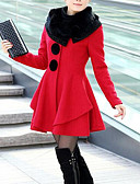 cheap Women's Coats & Trench Coats-Women's Simple Casual Fur Coat-Solid Colored