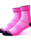 cheap Women's Swimwear & Bikinis-Sport Socks / Athletic Socks Bike / Cycling Socks Women's Cycling / Bike Quick Dry / Anatomic Design / Wearable 1 Pair Spring, Fall, Winter, Summer Stripe / Patchwork Nylon / Spandex / Elastic