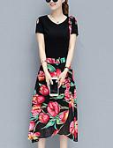 preiswerte Damen zweiteilige Anzüge-Damen Polo - Blumen Rock / Sommer