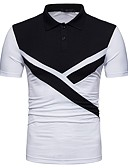cheap Fashion Belts-Men's Basic Cotton Polo - Color Block Shirt Collar
