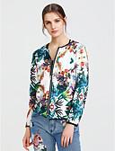cheap Women's Blazers-Women's Street chic Wrap - Floral, Flower