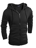 cheap Men's Hoodies & Sweatshirts-Men's Basic Long Sleeve Hoodie - Solid Colored Hooded