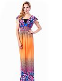 cheap Women's Dresses-Women's Basic / Boho Jalabiya Dress - Solid Colored / Floral Maxi V Neck