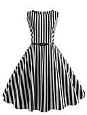 זול שמלות מודפסות-בגדי ריקוד נשים בוהו / סגנון רחוב רזה מכנסיים - פסים דפוס שחור / ליציאה